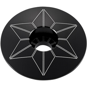 Supacaz Star Capz Ahead Cap anodised black